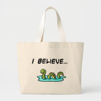 I Believe in the Loch Ness Monster Large Tote Bag