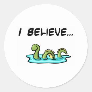 I Believe in the Loch Ness Monster Round Sticker