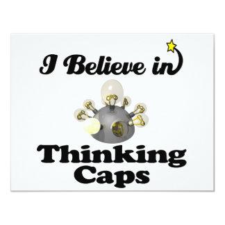 i believe in thinking caps custom invite