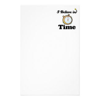 i believe in time personalized stationery