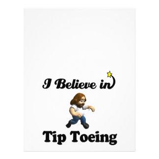 i believe in tip toeing flyer design