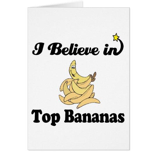 i believe in top bananas card