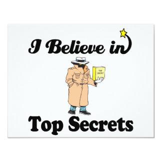 i believe in top secrets 11 cm x 14 cm invitation card