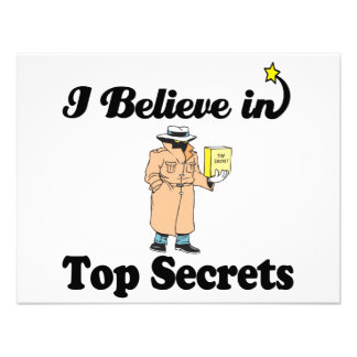 i believe in top secrets invites
