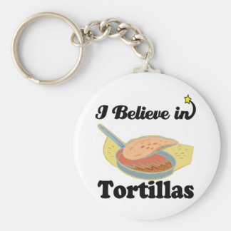 i believe in tortillas basic round button key ring