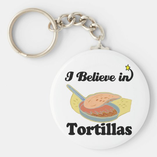 i believe in tortillas basic round button key ring