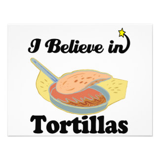 i believe in tortillas personalized announcements