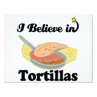 i believe in tortillas 11 cm x 14 cm invitation card