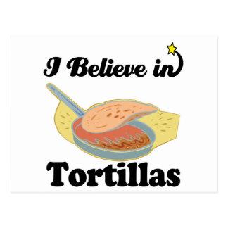 i believe in tortillas postcard