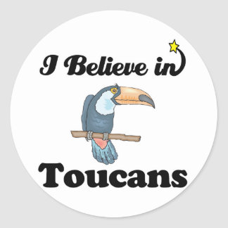 i believe in toucans classic round sticker