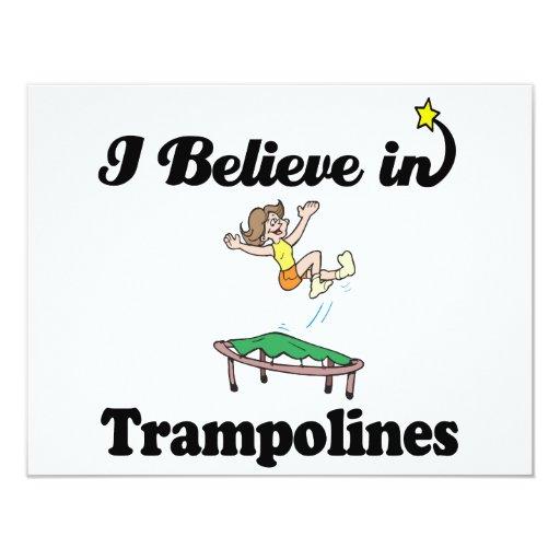 i believe in trampolines custom announcement