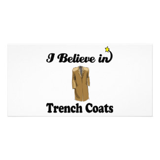 i believe in trench coats customized photo card