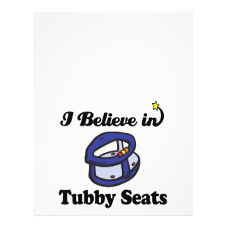 i believe in tubby seats 21.5 cm x 28 cm flyer