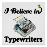 i believe in typewriters