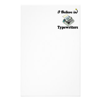 i believe in typewriters customized stationery