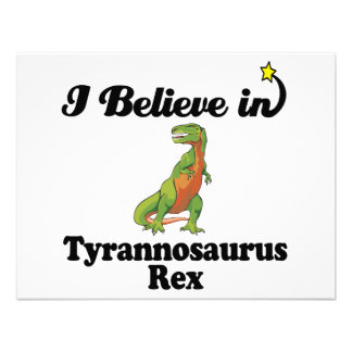 i believe in tyrannosaurus rex personalized invitations