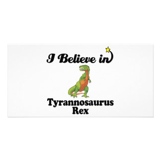 i believe in tyrannosaurus rex photo card template