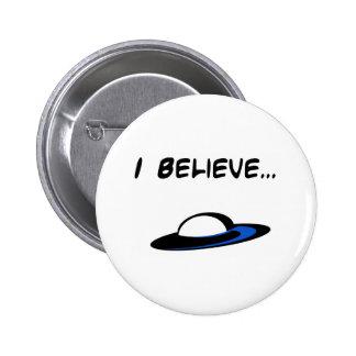 I Believe in UFO's 6 Cm Round Badge