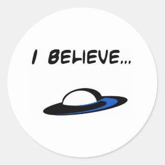 I Believe in UFO's Classic Round Sticker