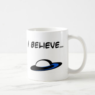 I Believe in UFO's Classic White Coffee Mug