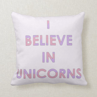 I Believe In Unicorns Pink and Purple Cotton Candy Cushion