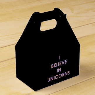 I Believe In Unicorns Pink and Purple Cotton Candy Favour Boxes