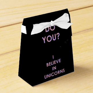I Believe In Unicorns Pink and Purple Cotton Candy Wedding Favour Box