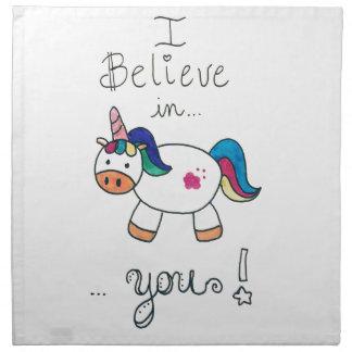 I believe in YOU! Unicorn Napkin