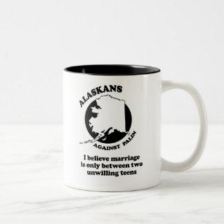 I believe marriage is between two unwilling teens Two-Tone mug