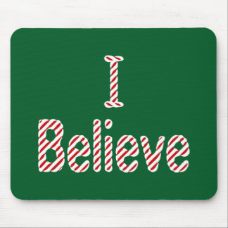 I Believe ~ Merry Christmas Santa Mouse Mat