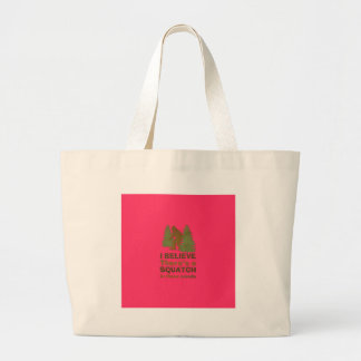 I believe there's a SQUATCH in these woods pink Canvas Bags