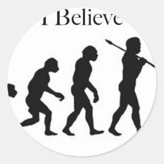 I Believe - UFO Classic Round Sticker