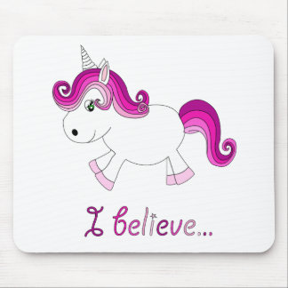 I believe unicorn - pink mouse mat