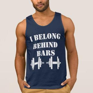 I BELONG BEHIND BARS Funny Sports Workout