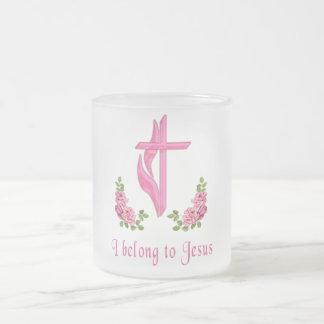 I belong to Jesus Frosted Glass Mug