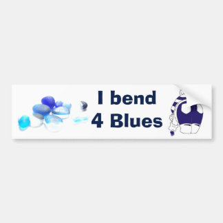 I bend 4 blues bumper sticker
