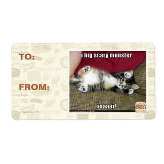I big scary monster shipping label
