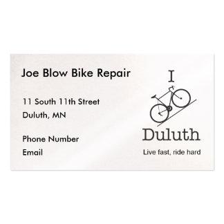 I Bike Duluth Pack Of Standard Business Cards