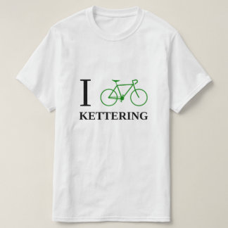 I Bike KETTERING (Green Bicycle Icon) T-Shirt