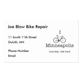 I Bike Minneapolis Pack Of Standard Business Cards