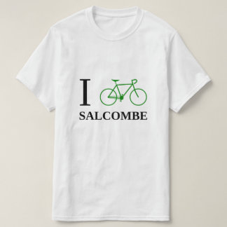I Bike SALCOMBE (Green Bicycle Icon) T-Shirt