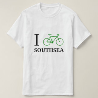 I Bike SOUTHSEA (Green Bicycle Icon) T-Shirt