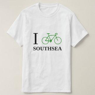 I Bike SOUTHSEA (Green Bicycle Icon) T-Shirt