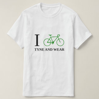 I Bike TYNE AND WEAR (Green Bicycle Icon) T-Shirt