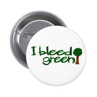 I Bleed Green Buttons