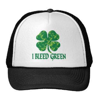 I Bleed Green Trucker Hats