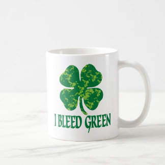 I Bleed Green Coffee Mugs