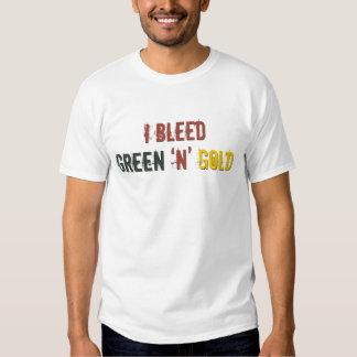 i bleed green n gold shirts