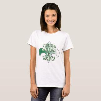 I Bleed Green & White T-Shirt