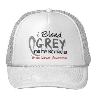 I Bleed Grey For My Boyfriend Brain Cancer Trucker Hat